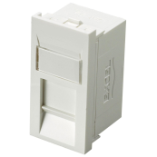 100-300 Excel Category 6 Unscreened RJ45 Module - White