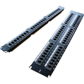 100-304 Excel Category 6 Unscreened Patch Panel 24 Port 1U - Black