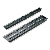 100-720 Excel Category 5e Unscreened Patch Panel 16 Port 1U - Black