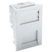 100-757 Excel Category 5e (U/UTP) Unscreened Module Low Profile - 6C RJ45 - White