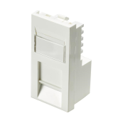 100-760 Excel Category 5e Unscreened Module RJ45 Low Profile - Euromod - White