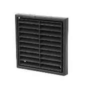 "1151BLK 4"" BLACK GRILL FIXED MANROSE"