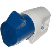 WALTHER 16 AMP 3 PIN BLUE ANGLED SOCKET INDUSTRIAL