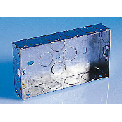 25MM TWIN Knockout BOX METAL