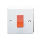 Crabtree 4016 Switch 1 Gang Double Pole Switch 45 Amp