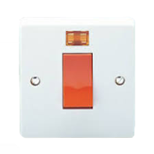 Crabtree 4016/3 1 Gang Double Pole Neon 45 Amp Switch