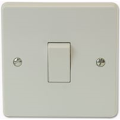 CRABTREE 4175 10 Amp 1 Gang Intermediate Plate Switch White