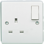 CRABTREE 4304 13 Amp Single Switched Dual Earth Single Pole Socket 1 Gang