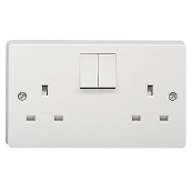 CRABTREE 4306/D 13 Amp Twin Switched Socket 2 Gang