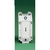 Crabtree 4461 Double Pole Grid Switch with Key Switch 20 Amp