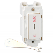 Crabree 4461/ELT 20 Amp Double Pole Keyswitch with Lettering