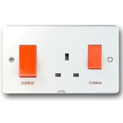 CRABTREE 4521/1 45 Amp Cooker Control Unit White