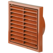 4 INCH FIXED GRILL TERRACOTTA