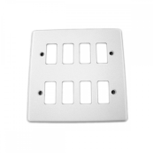 Crabtree 6578/WH Frontplate 8 Gang White