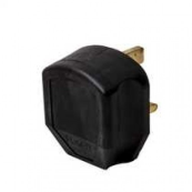BG 7B Plug Rubber Sleeved Heavy Duty 3 Pin BS1363A 13A Black