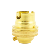 BRASS UNSWITCHED LAMPHOLER 1/2inch brass