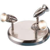Knightsbridge AL133BC Spotlight Circle 3x50W Brushed Nickel