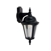 Ansell ALWL/BL Lantern E27 42 Watts Black Supplied Lampless