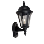 Ansell ALWL/PIR/BL Lantern E27 42W Supplied Lampless Black