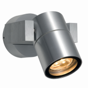 Ansell ARGU10 Wall Light GU10 35 Watts Brushed Aluminium