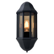 Ansell ASOE27 Lantern E27 60 Watts Supplied Lampless Black