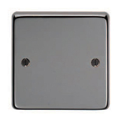 Eurolite BN1B Blanking Plate 1 Gang Black Nickel 86x86x7mm