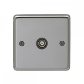 Eurolite BN1TVB Socket TV 1 Gang Black Nickel 86x86x7mm