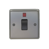 Eurolite BN20ASWNB Switch 1 Gang Double Pole + Neon 86x86x7mm