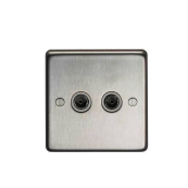 Eurolite BN2TVB Socket TV 2 Gang Black Nickel