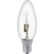 28W SES 35MM CLEAR CANDLE HALOGEN ENERGY SAVING