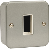 Click CL401 Frontplate 1 Gang 1 Aperature Metal Clad Switch Plate