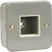 Click CL402 Frontplate 1 Gang 2 Aperature Metal Clad Switch Plate