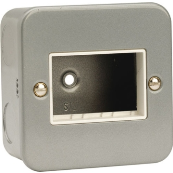Click CL403 Frontplate 1 Gang 3 Aperature Metal Clad Switch Plate