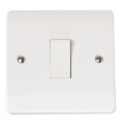 Click CMA010 Mode Plateswitch 1 Gang 1 Way 10 Amp White Moulded Plastic