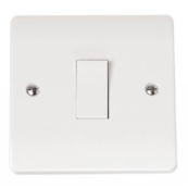 Click CMA011 Mode Plateswitch 1 Gang 2 Way 10 Amp White Moulded Plastic