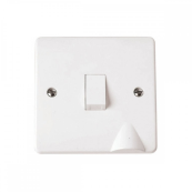 Click CMA022 Switch Double Pole comes with Flex Outlet 20 Amp White