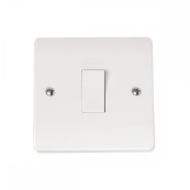 Click CMA025 Plateswitch 1 Gang Intermediate Switch 10 Amp White Moulded Plastic