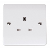 Click CMA030 Mode Unswitched Socket 1 Gang 13 Amp White Moulded Plastic