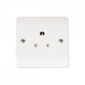 Click CMA038 Socket 1 Gang Unswitched 5 Amp White Moulded Plastic
