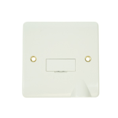 Click CMA050 Connection Unit Fused & Flex Outlet 13 Amps White Moulded Plastic