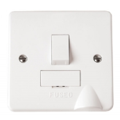 Click CMA051 Mode Connection Unit Switched & Flex Outlet 13 Amp White Moulded Plastic