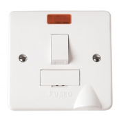 Click CMA052 Mode Connection Unit Fused Neon & Flex Outlet 13 Amp White Moulded Plastic
