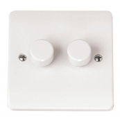 Click CMA146 Mode Dimmer Switch 2x250Va White Moulded Plastic