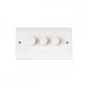 Click CMA147 Dimmer Switch 3 x 250Va Dimmer Switch White Moulded Plastic