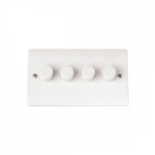 Click CMA148 Dimmer Switch 4x250Va Dimmer Switch White Moulded Plastic