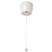 Click CMA213 Mode Ceiling Switch Neon 50 Amp White Double Pole Round Shower White Moulded Plastic