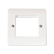 Click CMA311 Frontplate 1 Gang 2 Aperture White Moulded Plastic
