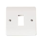 Click CMA401 Frontplate 1 Gang 1 Aperture White Moulded Plastic Minigrid