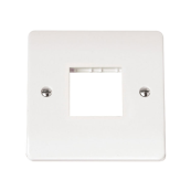 Click CMA402 Frontplate 1 Gang 2 Aperture White Moulded Plastic
