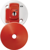 Hager CR64AX/R Ceiling Rose 4Pin 6A Red